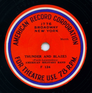 American Record Corporation silent film accompaniment disc