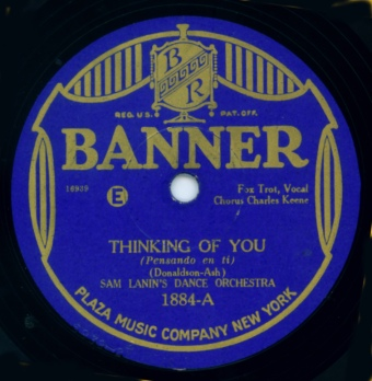 Vintage Banner Record Label