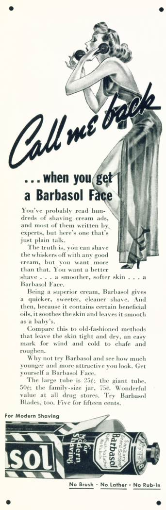 Barbasol - Sanitary Beard Softener
