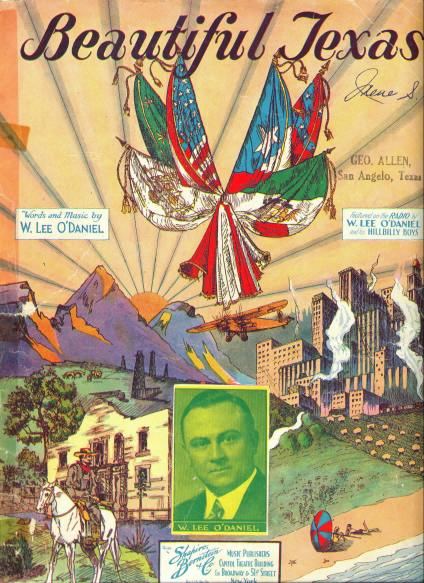 Beautiful Texas - 1930s Sheet Music Cover - Click On Image For Larger View