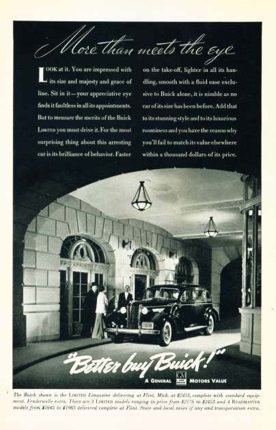 1938 Buick Ad - Click To See Larger Image