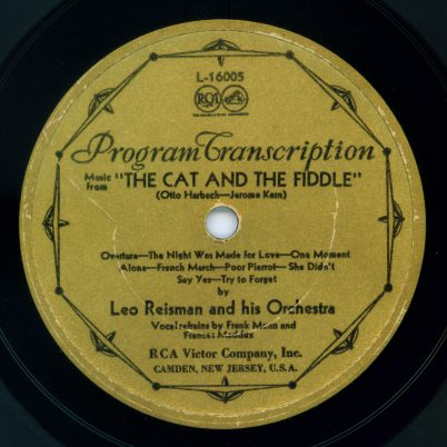 RCA Victor Program Transcription label