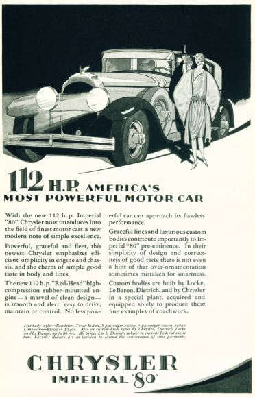 Chrysler Imperial 80 - America's Most Powerful Motor Car