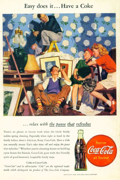 Coca-Cola The Pause That Refreshes  Click On Image For Larger View