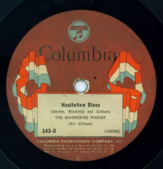 1925 Columbia Flag Label - Hesitation Blues