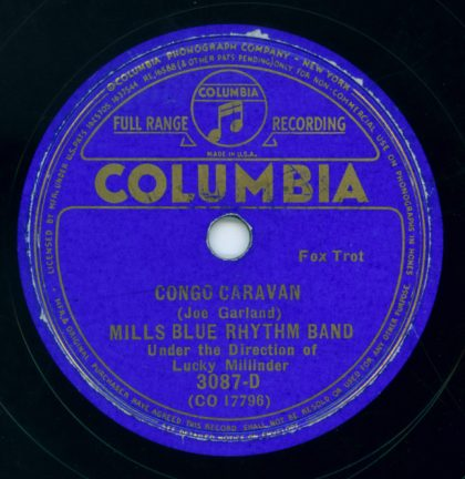 1935 Columbia label - Mills Blue Rhythm Band