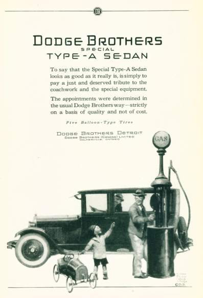 Dodge Brothers Type A Sedan - Click On Image For Larger View