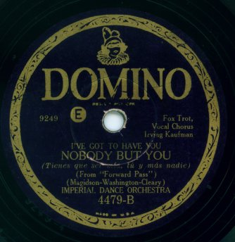 1930 Domino Record Label