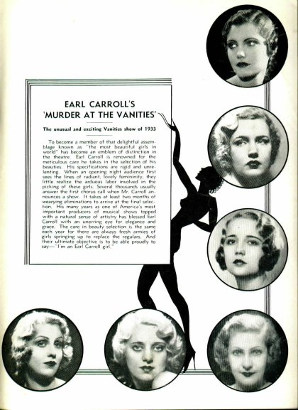 Murder At The Vanities - Earl Carroll's Vanities production of 1933