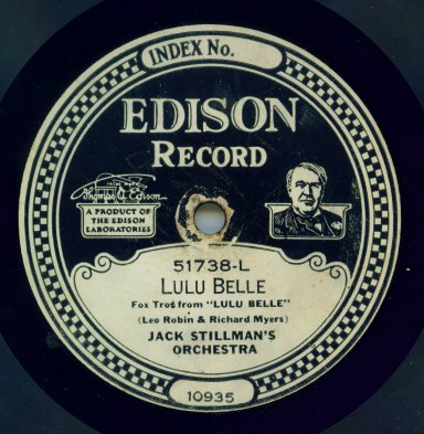 Edison Diamond Disc label