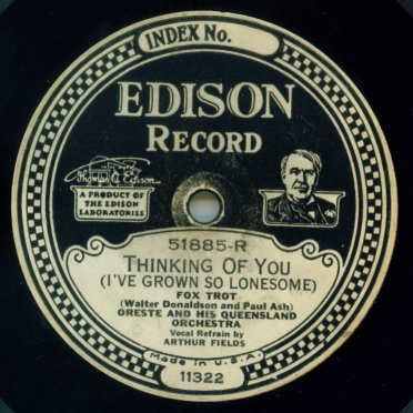 1926 Edison Diamond Disc label
