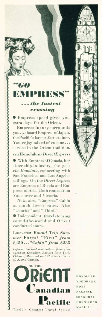 1931 Canadian Pacific Ad