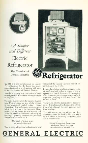 General Electric Electric Refrigerator - Click on image for larger view.