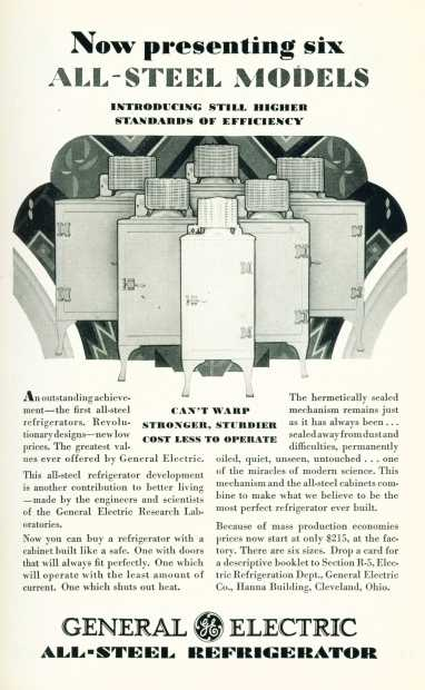 General Electric All Steel Refrigerator - Click on image for larger view.