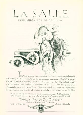 LaSalle - Companion Car To Cadillac.  Click On Image For Larger View
