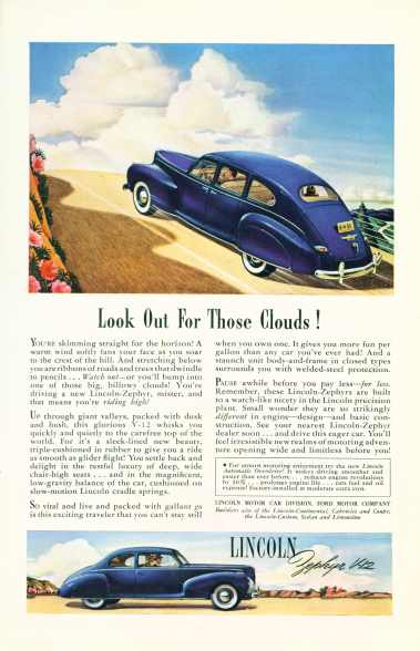 Lincoln Zephyr V-12  Click On Image For Larger View