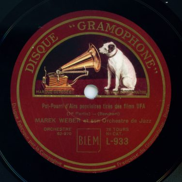 French Disque Gramophone label