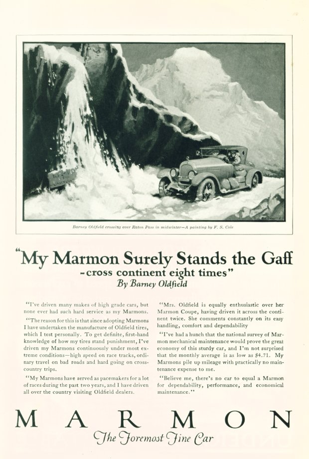 1923 Marmon advertisement - click on image for larger view