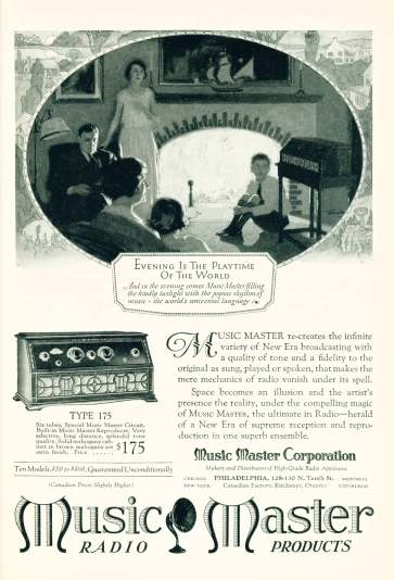 Music Master Radio - Click On Image For Larger View