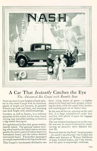 Nash Motor Cars - Click on image for larger view
