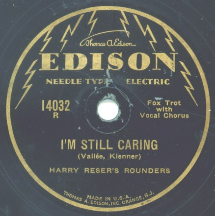 1929 Edison Needle Type Electric Record Label