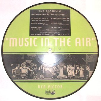 1932 Music In The Air RCA-Victor Picture Record Side A