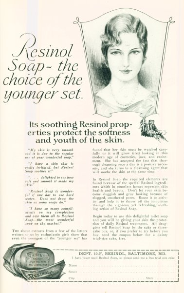 Resinol Soap - The Choice Of The Younger Set - Click On Image For Larger View