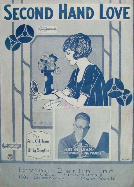 Vintage Sheet Music Cover - Second Hand Love