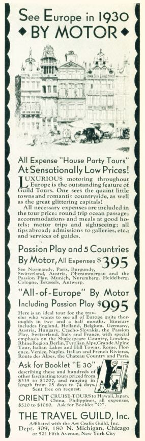Travel Guild - See Europe By Motor in 1930