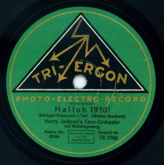 1930 Tri-Ergon label