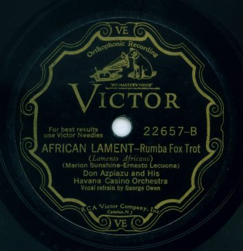 1931 Victor Scroll Label - Don Azpiazu And His Havana Casino Orchestra
