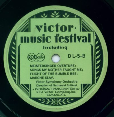 Victor Program Transcription Label