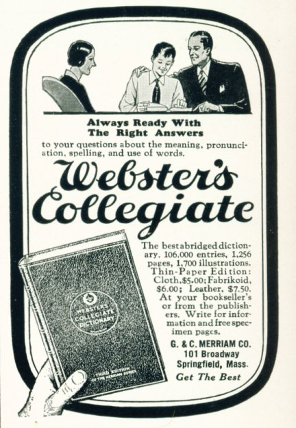 Webster's Collegiate Dictionary