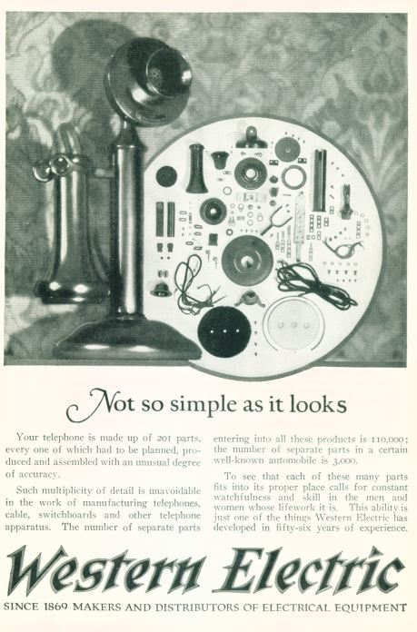 Western Electric - Makers And Distributors Of Electrical Equipment