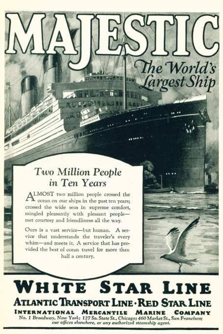 White Star Line - Majestic - World's Largest Ship